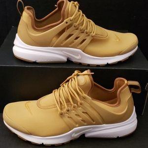 Nike Air Presto Premium Gold Blur White Mens Shoes